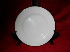 Crate & Barrel Classique Black Line salad  Plate