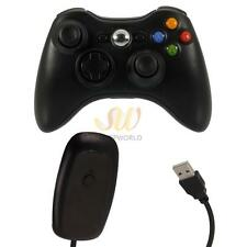 Black Wireless Controller Gamepad and Receiver for Microsoft Xbox 360 Console CA