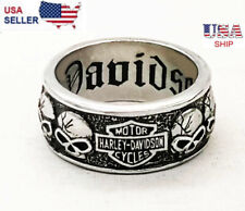 Men's Harley Davidson Skull Biker Ring Motorcycle Skull  Ring
