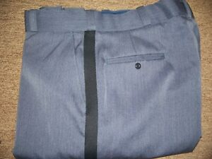 Flying Cross 32264 Air Force Blue with navy stripe Uniform pant Poly/Wool no sap