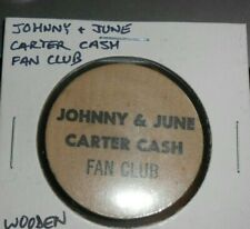 JOHNNY AND JUNE CARTER CASH FUN CLUB WOODEN NICKEL