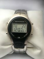 Sekonda Men's  Vintage Digital Chronograph Alarm DayDate Year Display 3804 Watch