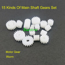 15 Kinds Of Main Shaft Gear Set Four-wheel Drive Motor Gear Plastic Worm Science