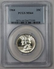 1964 Washington Silver Quarter Coin 25c PCGS MS-64 Type B 1C