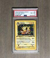 1999 Pokemon 1ST EDITION Jungle Jolteon 4/64 - Holo PSA 8 Near Mint Mint