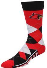NCAA Louisville Cardinals Argyle Unisex Crew Cut Socks One Size Fits Most - SALE