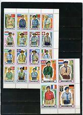 AJMAN 1971 WORLD SCOUT JAMBOREE JAPAN SET OF 20 STAMPS PERF. MNH