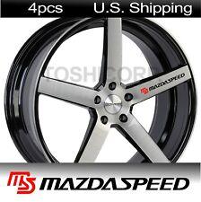 4 MAZDASPEED Stickers Decals MAZDA Door handle Wheels Rims Wing Mirror BLACK