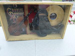 "Charlie Daniels 33"" X 20  Memoriabilia (Gold Record, Boots, Violin...)"