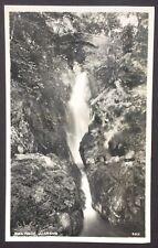 POSTCARD Aira Force ULLSWATER Waterfall LAKE DISTRICT Cumbria REAL PHOTO 1459