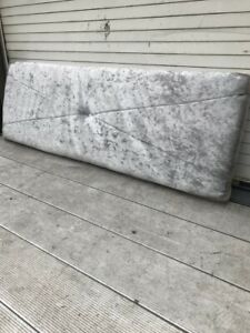 Silver Crushed Fabric Headboard Available in Single 3FT 4FT 4FT6 Double 5FT KinG