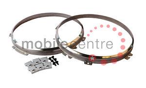 Land Rover Defender 90 110 130 stainless headlight mounting rim bezel ring kit