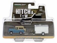 1:64 GreenLight *HITCH & TOW 2* 1967 Ford Bronco w/Enclosed Cargo Trailer NIP!