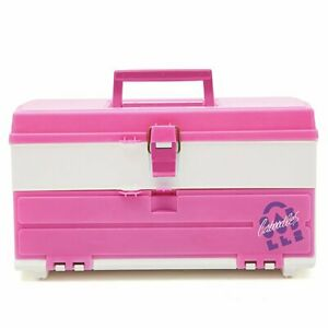Vintage Caboodles Makeup 1987 Throw Back Cosmetic Case, New - Pink & White Retro