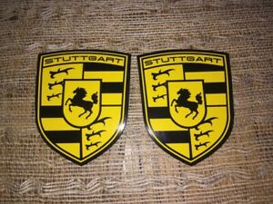 STUTTGART The Home of Porsche Magnetic Fender Badge Emblems (SET OF 2)