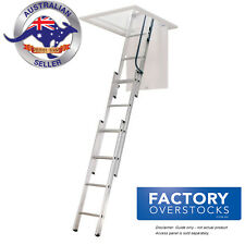 Factory Second AtticPro Aluminium Sliding Attic Loft Ladder Size 1.6-2.7m