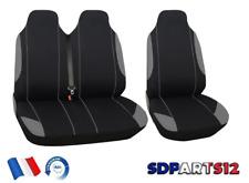 Fiat Scudo Ducato Housses Couvre Sieges Fabric 2+1 Gris Noir