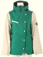 HOLDEN Women's RYDELL Snow Jacket - UltraMarine Green / Bone - Large - NWT