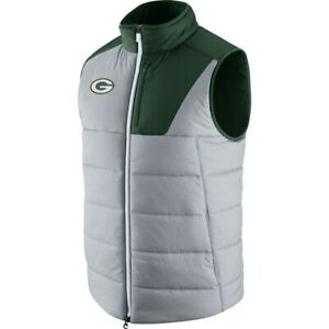 NWT Green Bay Packers Nike Champ Drive Vest Grey Green Medium
