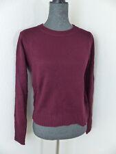 Neuer H&M Divided Damen Pullover Gr XS Bordeaux Langarm NEU