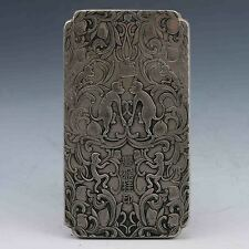 Chinese Collection Tibet Silver Hand Carved Chinese Zodiac Pendant - Monkey G616