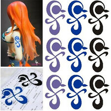 Anime One Piece Nami Cosplay Temporary Waterproof Arm Tattoo Sticker Windmill