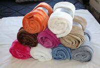 Brighton Road Premium Snug Fleece Plush Throw Rug 120x150cm - Select Colour