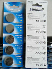 10 x EUNICELL CR2450 3V Lithium Batteries  BR2450  DL2450 Button Cell Battery
