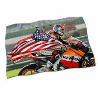 "Nicky Hayden Flag Banner 25"" NEW MotoGP The Kentucky Kid Motor Fabric Poster #1"