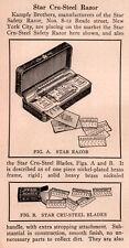 1914 PRINT AD  STAR CRU STEEL RAZOR KAMPFE BRO
