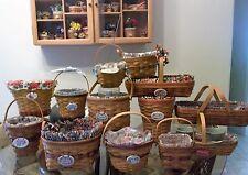 Longaberger Grandma Bonnie's Entire May Series Basket Lot Of 14 plus extras