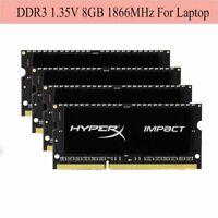 Pour HyperX Impact 8Go 16Go 32Go 1866MHz DDR3L PC3L-14900 SO-DIMM Laptop RAM ARF