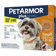 PETARMOR Plus for Dogs Flea and Tick Prevention for Dogs, 5-22 Lbs 6 treatments
