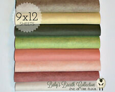 "Sweet BABY'S BREATH, Felt Collection, Merino Wool Blend Felt, 8 - 9""X12"" Sheets"