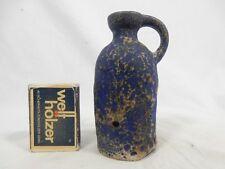"Rare small Ruscha Keramik vase blue "" Fat Lava "" glaze  321 / 1    10,5 cm"