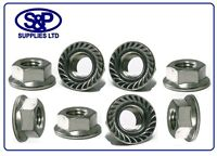 4mm 5mm 6mm 8mm 10mm 12mm STAINLESS STEEL HEX FLANGE NUT SERRATED FLANGE NUT A2