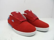 DVS Men's Vapor Casual Skate Shoes Red Suede Size 8.5M