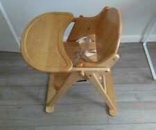 John Lewis East Coast Folding Wooden High Chair