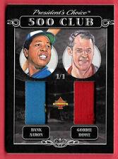 2020 Hank Aaron - Gordie Howe President's Choice Solitaire 1/1 Dual Jersey