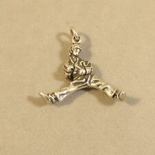 .925 Sterling Silver 3-D KARATE CHARM Pendant Mixed Martial Arts NEW 925 SP83