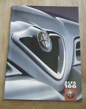 ALFA ROMEO 166 SALES BROCHURE 2000 FOR 2001