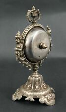 Antique 1890s Victorian Aesthetic Brass Rotating Sphere Hotel Counter Call Bell