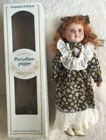 Sammel-Edition Porzellan Puppe German Porcelain Doll Hand Crafted In Box
