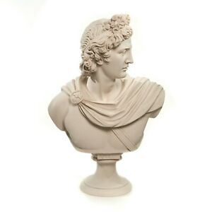 Marble Bust of Apollo Belvedere, Sculpture. Art, Gift, Ornament.