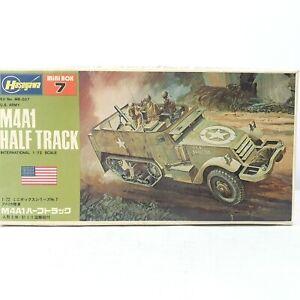 HASEGAWA Mini Box 7 US Army M4A1 Half Track Truck WWII 1:72 Scale Model Kit New
