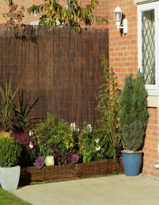 Willow Bulrush Natural Garden Fence Screening Roll Privacy Border Sun Protection