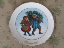 Avon Annual Christmas Plate (1981) Sharing The Christmas Spirit