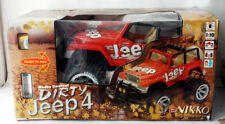 RARE NIKKO DIRTY JEEP 4 HUGE SIZE 1:10 RADIO CONTROL MADE IN MALAYSIA NEW NOS !
