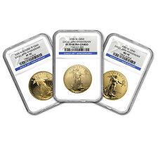 2006-W 3-Coin Gold American Eagle Set MS/PF-70 NGC - SKU #19552