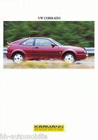 Karmann VW Corrado Prospekt 1994 D GB F brochure Auto Autoprospekt PKWs Werbung